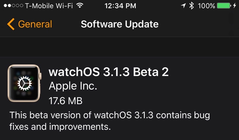 Apple Seeds Second Betas of watchOS 3.1.3 and tvOS 10.1.1 to Developers for Testing
