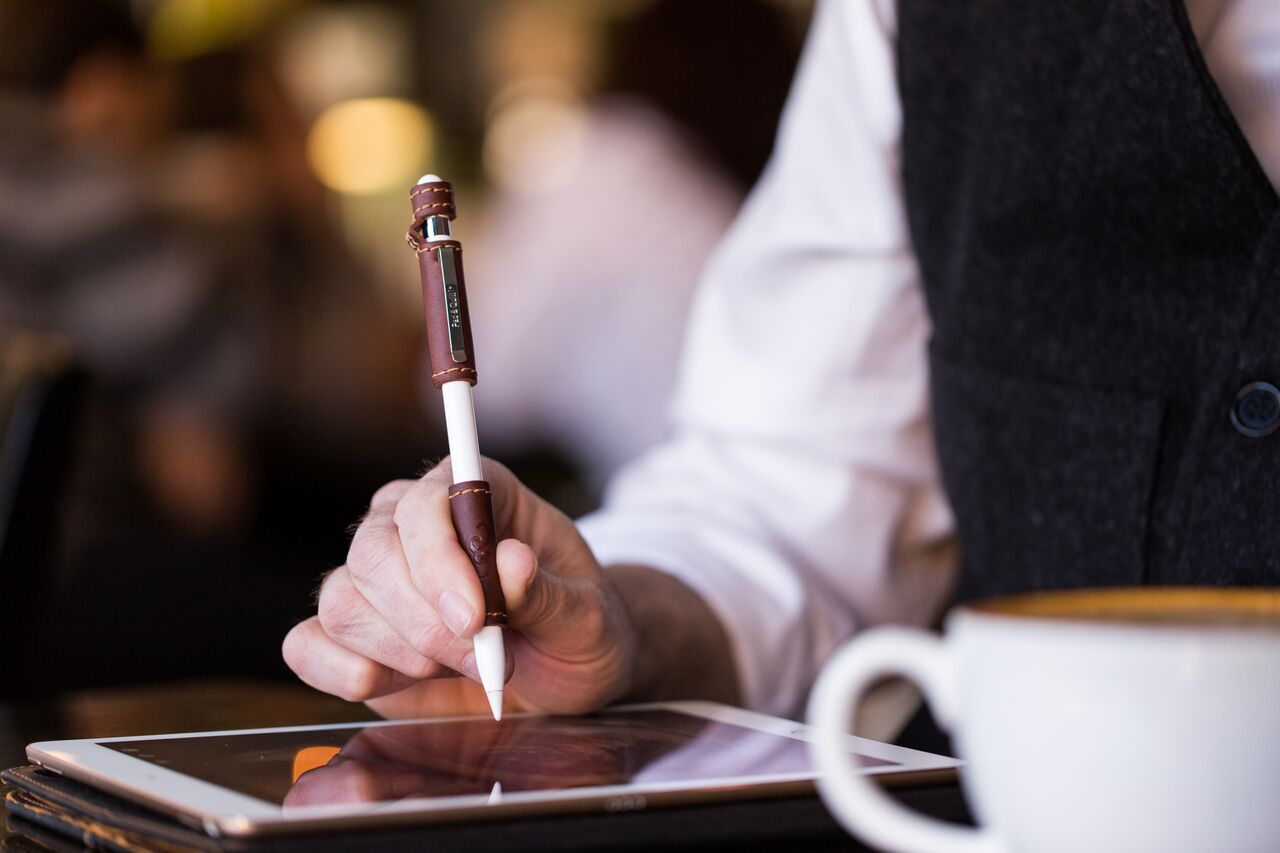 Pad & Quill's Leather Apple Pencil Grip Bring Some Leather Clad Class to the Pencil