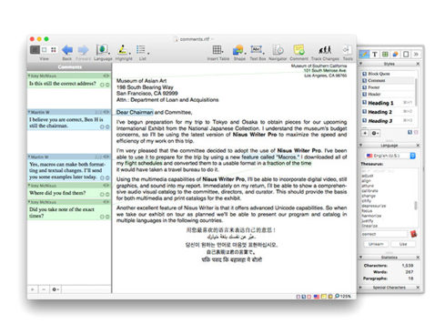 MacTrast Deals: Nisus Writer Pro - The Fully Customizable Word Processing For the Frequent Writer