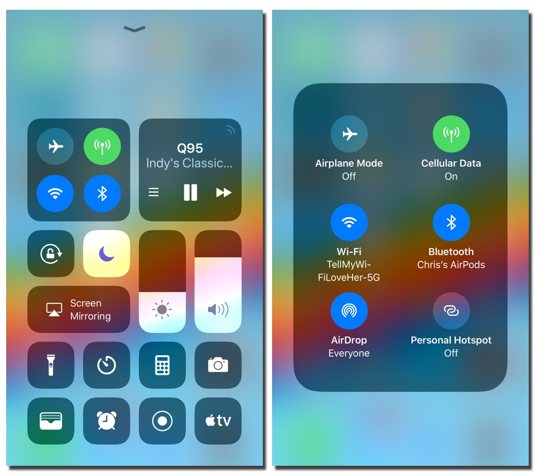 Apple Confirms Bluetooth & Wi-Fi Can't be Completely Turned Off in iOS 11 Control Center