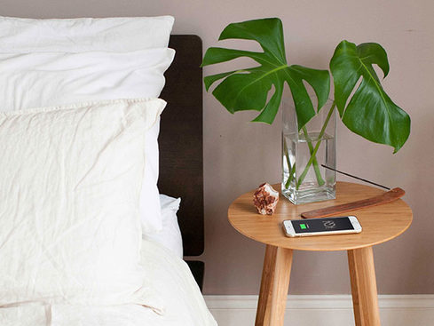 MacTrast Deals: FurniQi Bamboo Wireless Charging Side Table