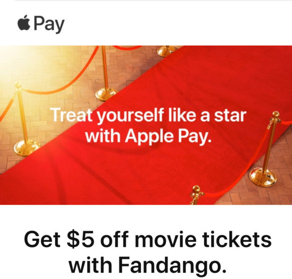 Save $5 on Two or More Movie Tickets When You Buy From Fandango Using Apple Pay