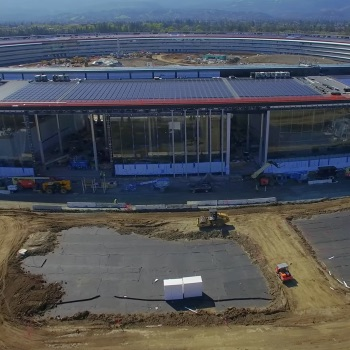 New 4K Drone Video of 'Apple Park' Shows Completed R&D Facility, Solar Panel Progress