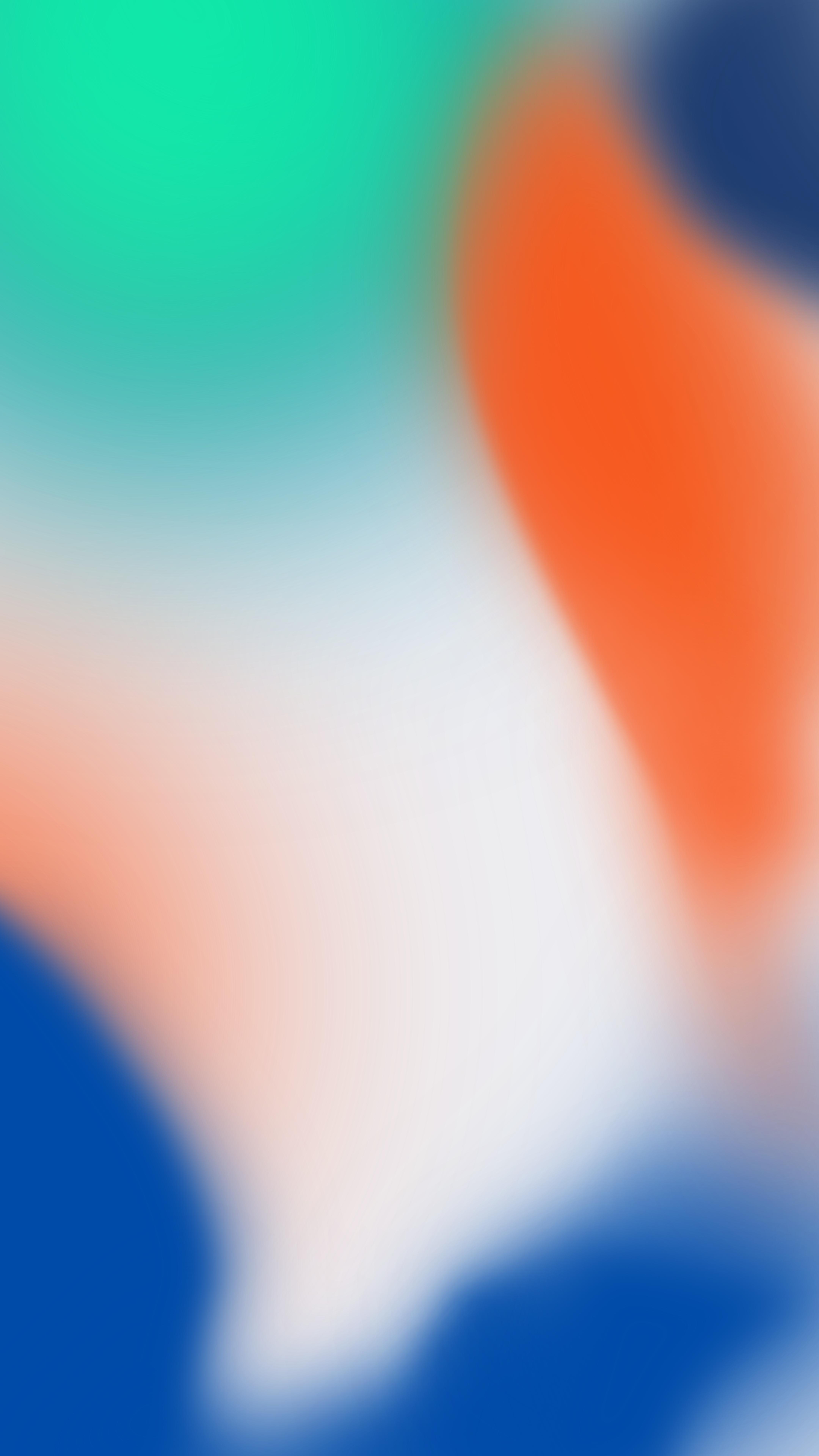 iPhone X Wallpaper Green/Orange/Blue