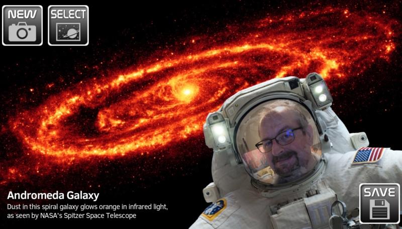 'NASA Selfies' App Allows Users to Create Virtual Selfies in Space