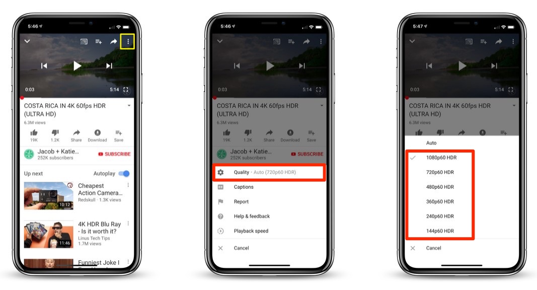 YouTube iOS App Update Brings HDR Support for iPhone XS and iPhone XS Max