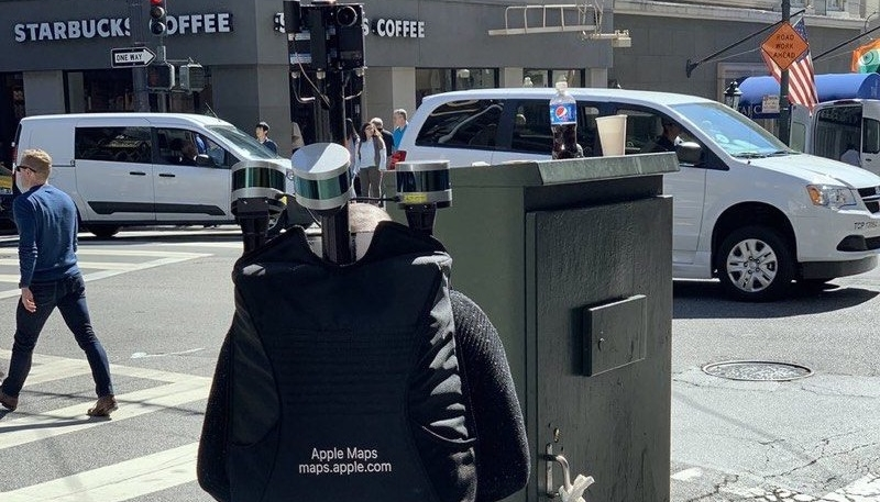 Apple Maps Data Collection Team Member Spotted On Foot in San Francisco