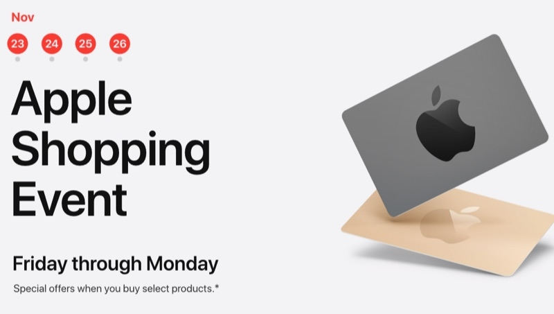 Apple Black Friday Shopping Event is on in the U.S. – Get Up to $200 Apple Store Gift Card With Select Products
