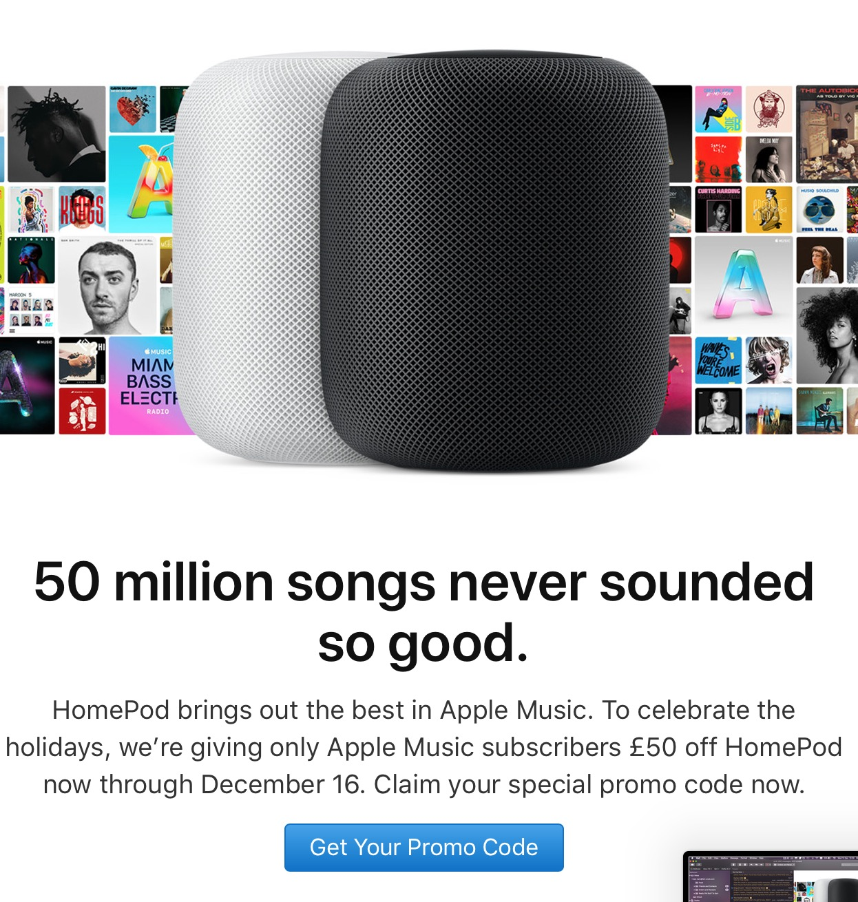 Apple U.K. Now Offering Discounts on HomePod to Apple Music Subscribers