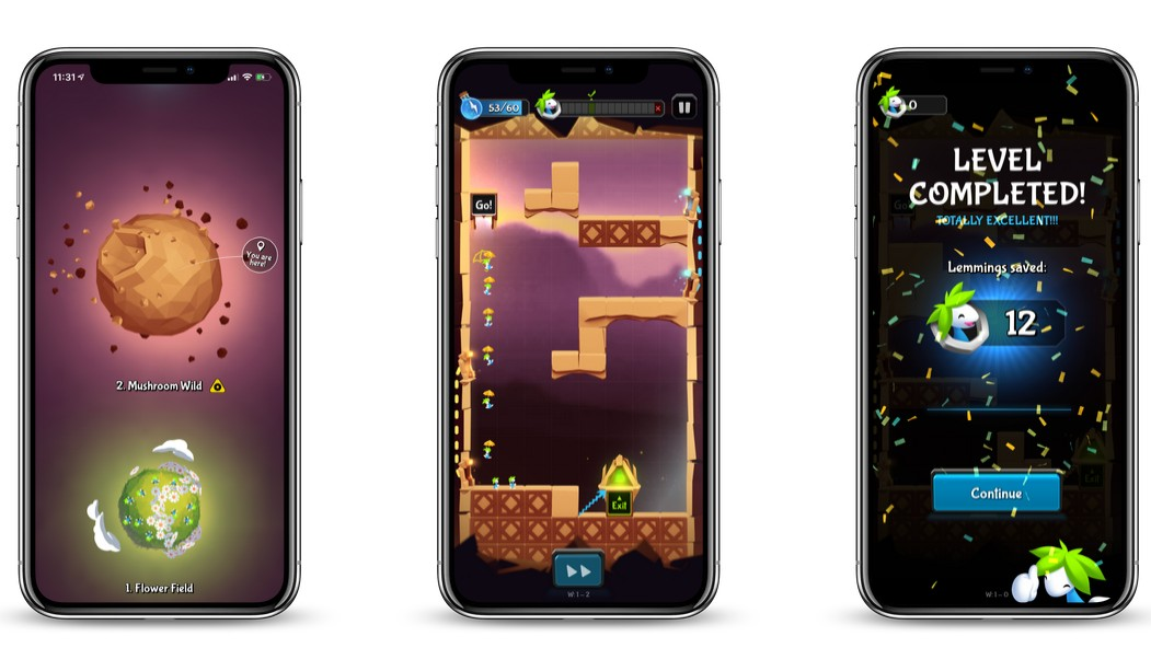 Lemmings Series Falls Onto iOS and Android Devices