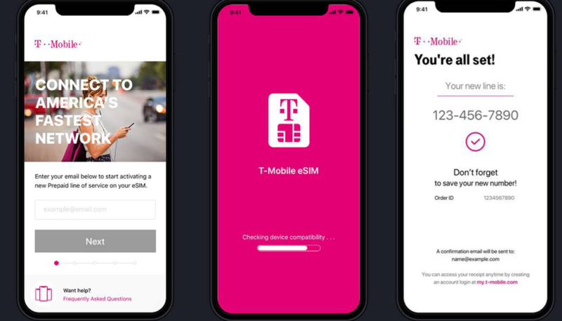 T-Mobile Expands eSIM Support on iPhone XS and iPhone XR to Postpaid Plans