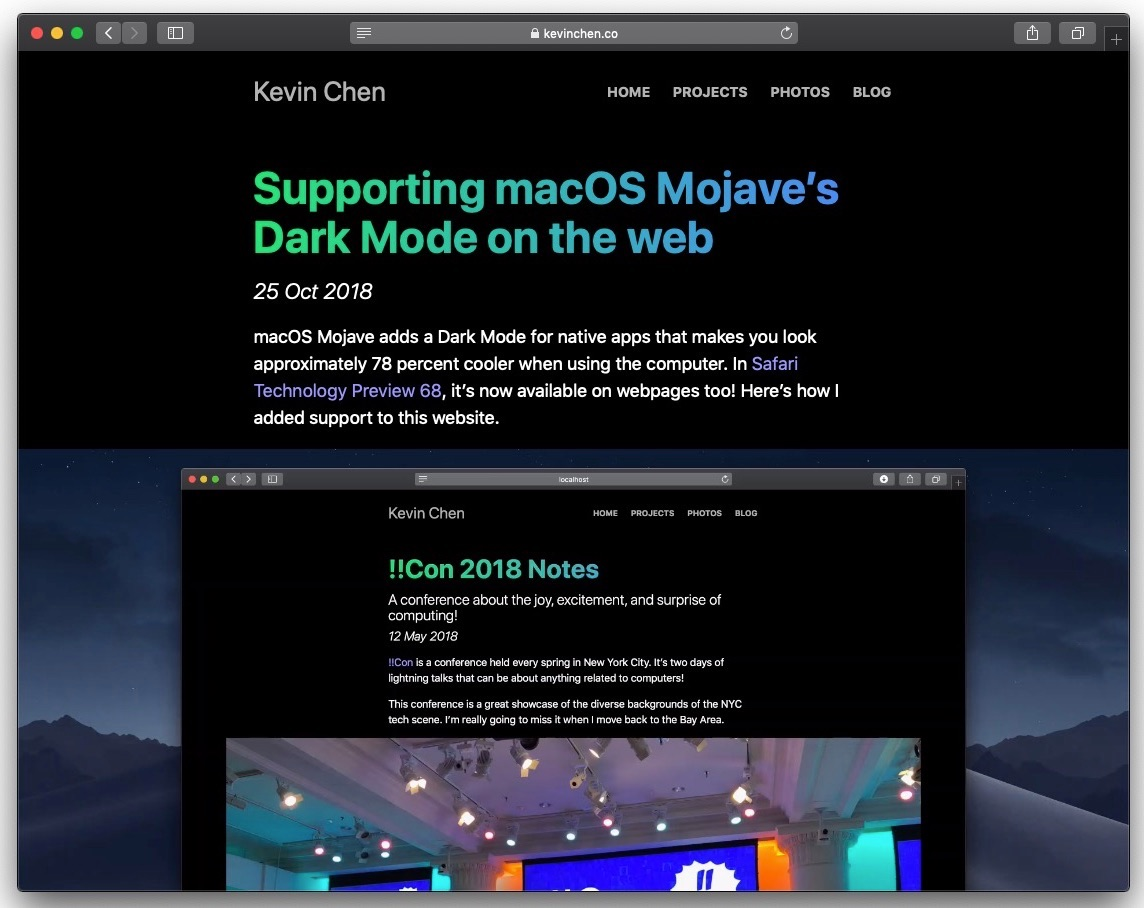 Apple's Upcoming macOS Mojave 10.14.4 Update Will Feature Safari Support for Automatic Dark Mode on Websites That Support It