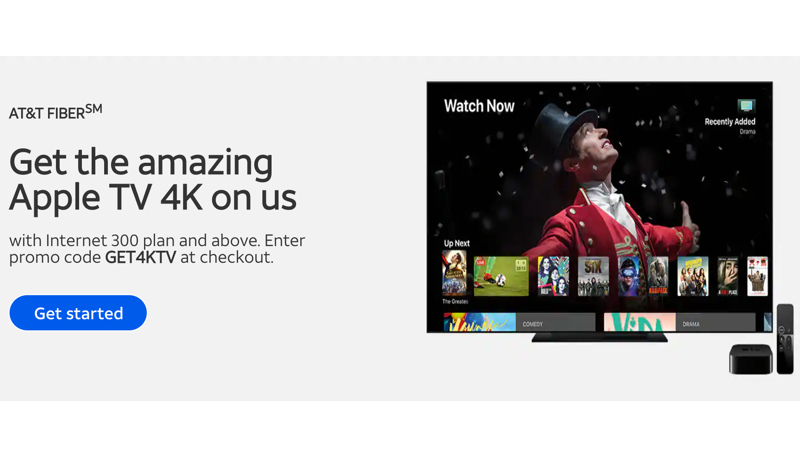 AT&T Offers New Users Free Apple TV 4K When They Sign Up for Fiber Internet
