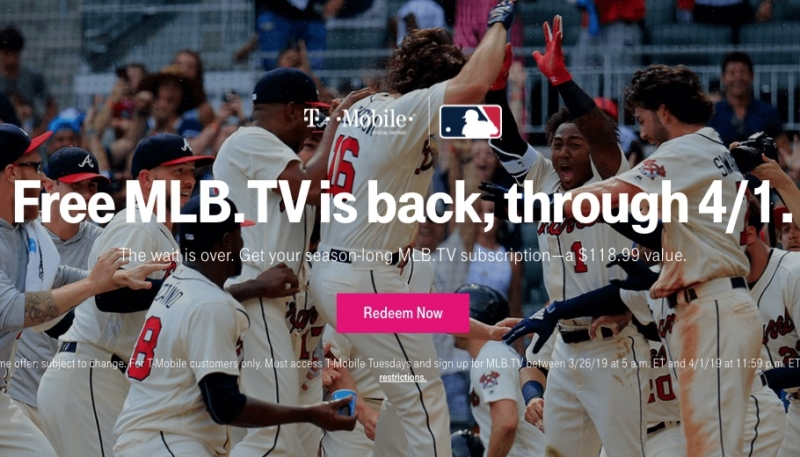 T-Mobile Again Offering Free MLB.TV for Subscribers (A $119 Value)