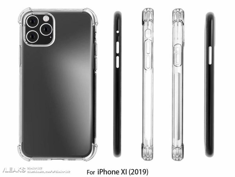 2019 'iPhone XI' Case Renders Mirrors Leaked Square Camera Bump Design