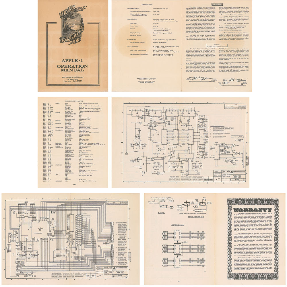 Original Apple-1 Computer Operation Manual Sells for Over $12k at Auction