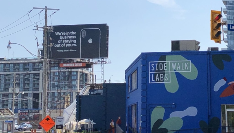 Apple Erects Two New Privacy-Focused iPhone Billboards in Canada