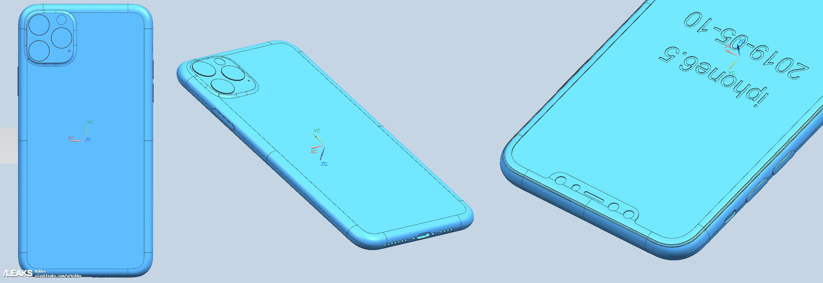 New 3D Renders Allegedly Show Off Apple's 2019 iPhone