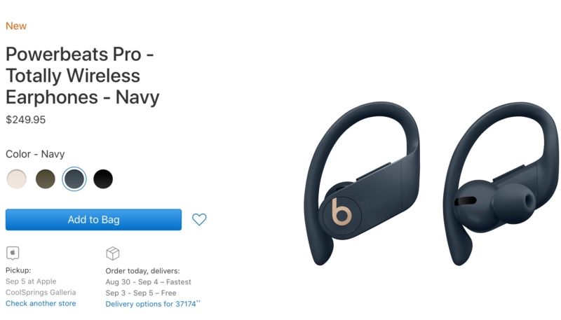 Apple's Powerbeats Pro Now Available for Pre-Order in Ivory, Moss & Navy in the Online Apple Store