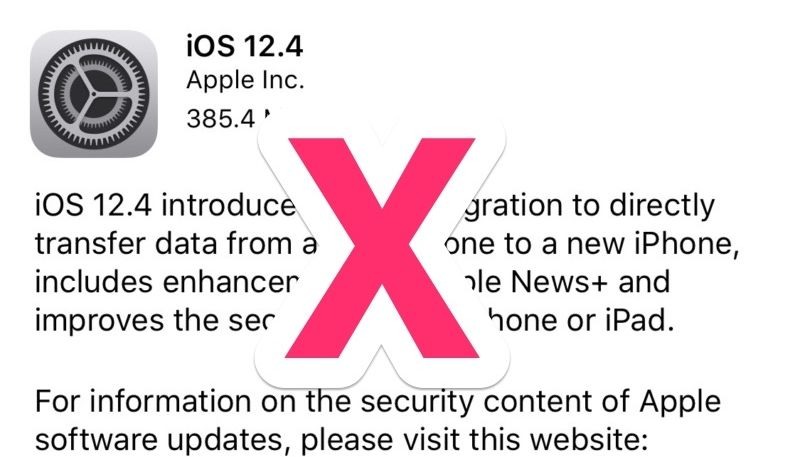 Apple Stops Signing iOS 12.4 Following iOS 12.4.1 Release