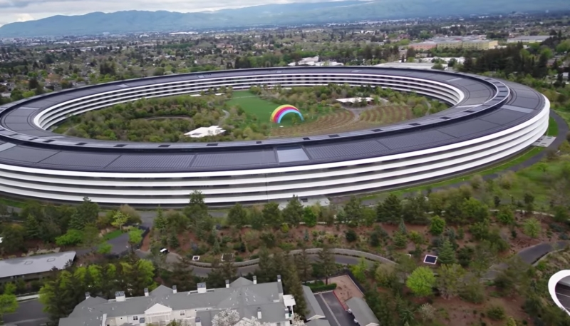 Apple Park Drone Video Shows Ghost Town-Like Scene