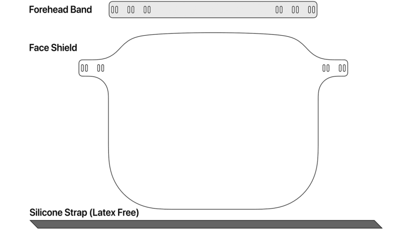 Apple Provides Face Shield Assembly and Usage Instructions on Support Site