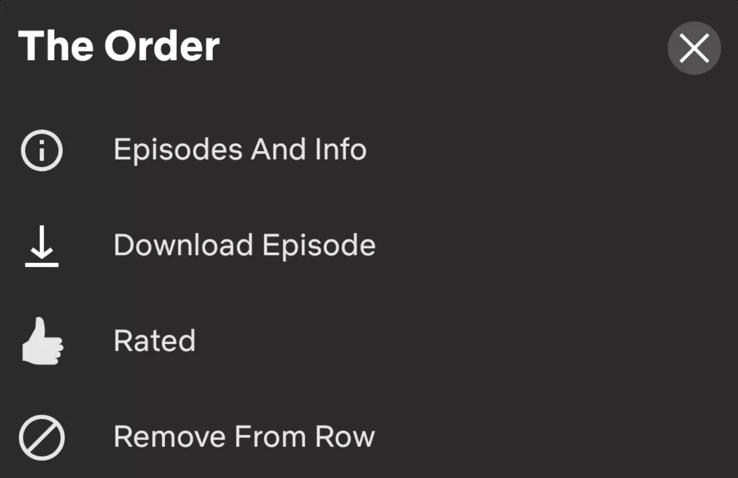 Netflix remove