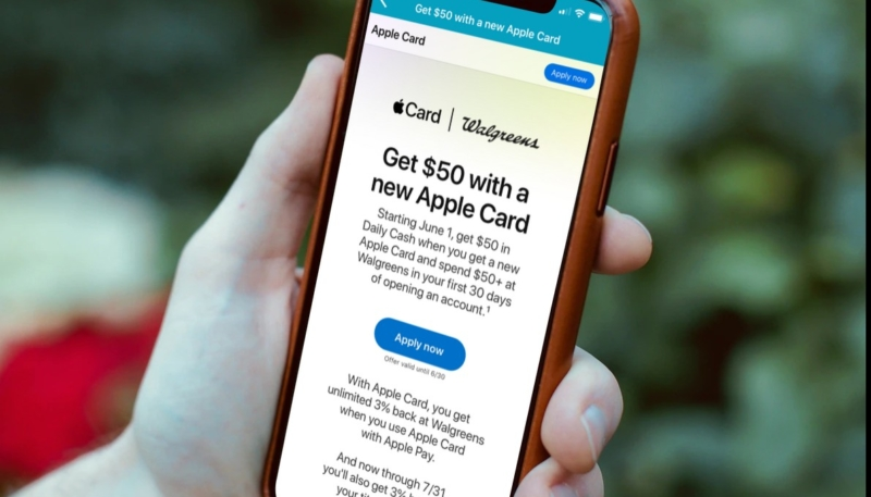 Walgreens Offering $50 in Bonus Daily Cash When New Users Spend at Least $50 on Apple Card