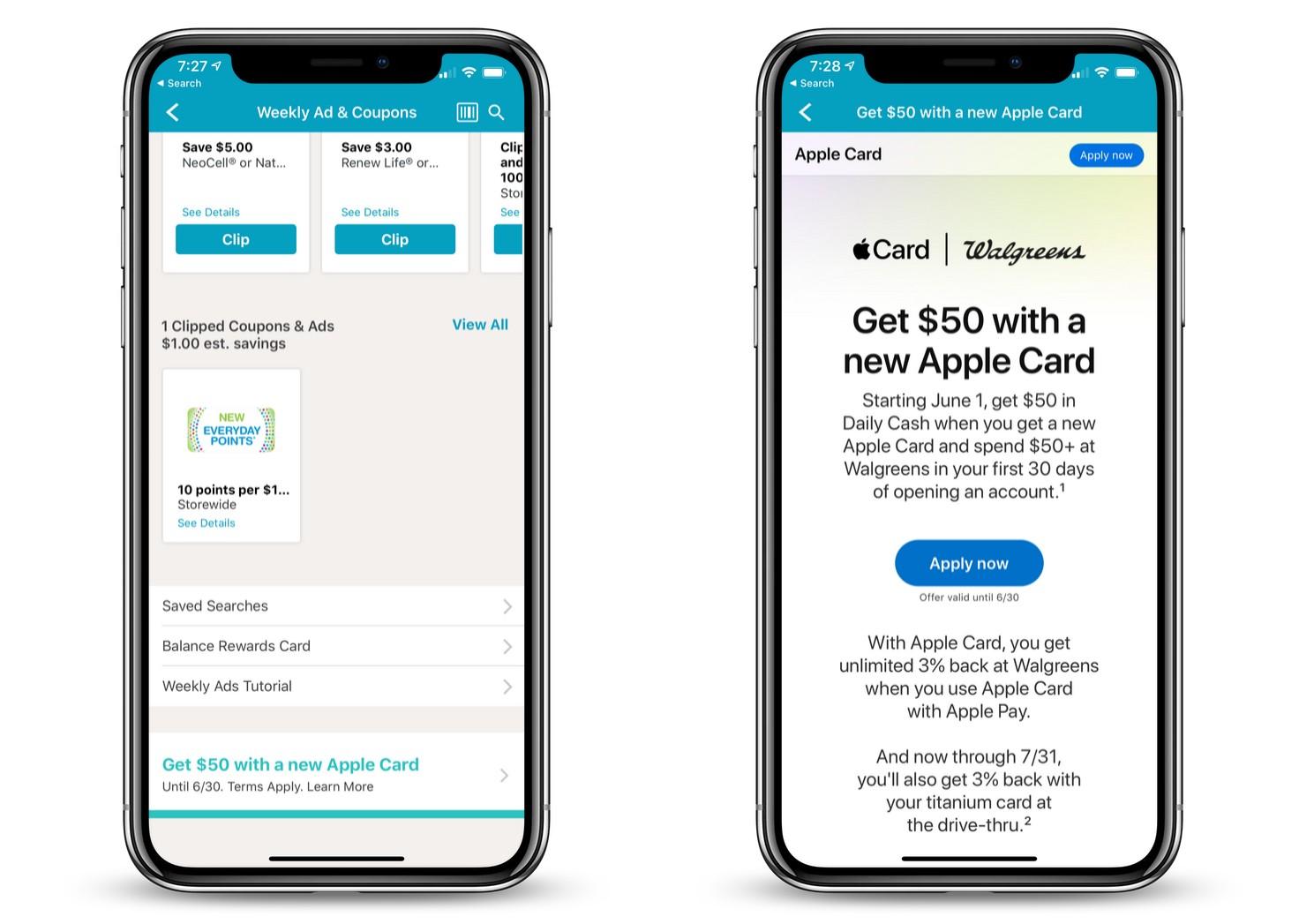 Walgreens Apple Card Offer
