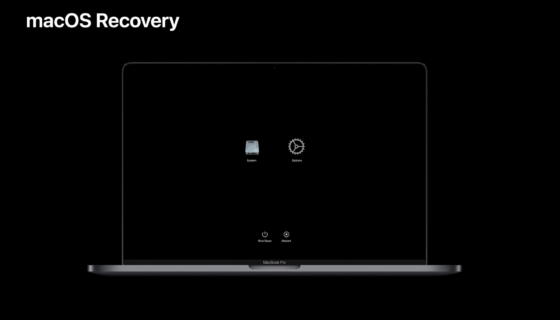 macOS Recovery Mode Apple SIlicon Mac