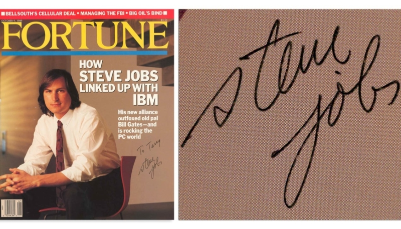 Steve Jobs Signed Magazine Cover Goes Up For Auction on July 30