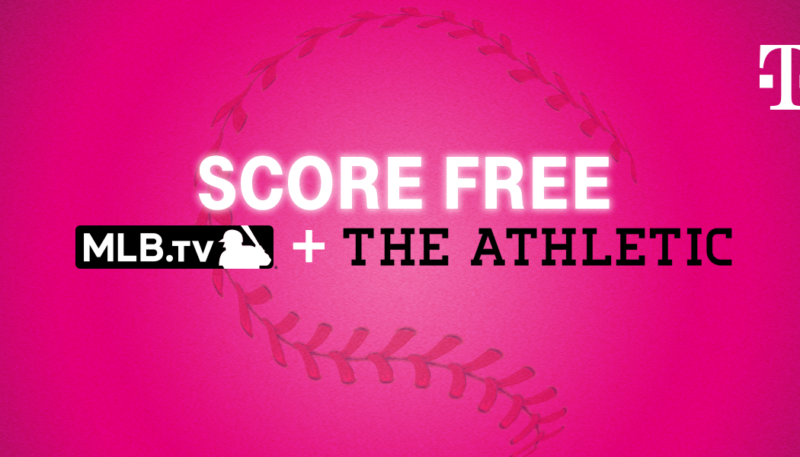 T-Mobile and Sprint Customers to Score Free Year of MLB.TV and The Athletic