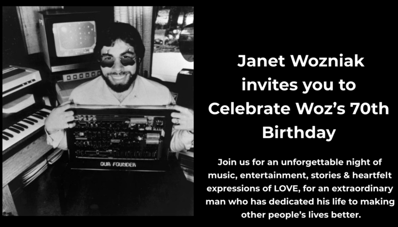A 'Surprise' Virtual Party is Being Held for Steve 'Woz' Wozniak's 70th Birthday, And You're Invited