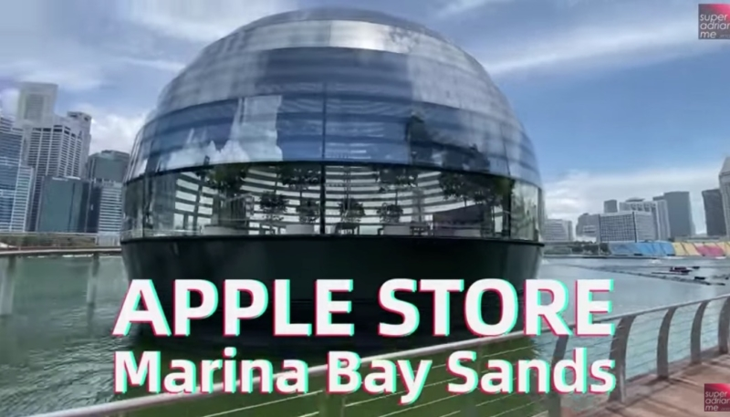 Video Walkthrough of Apple Marina Bay Sands in Singapore Offers a Closer Look on Opening Day