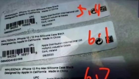 iPhone 12 mini labels