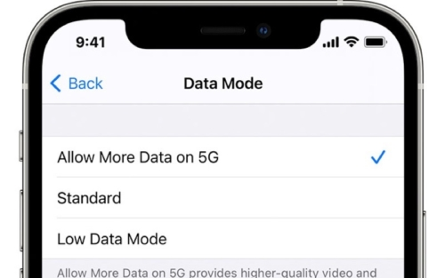 iPhone 12 - 5G Setting