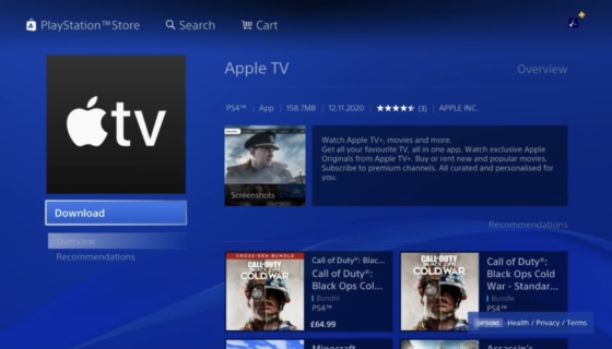 Apple TV App on PS4 and PS5