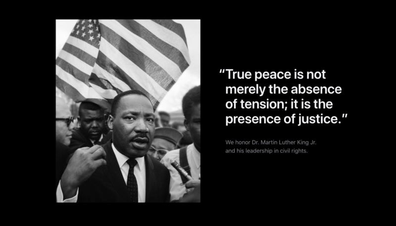 Apple Honors Dr. Martin Luther King Jr. With Tribute on Homepage