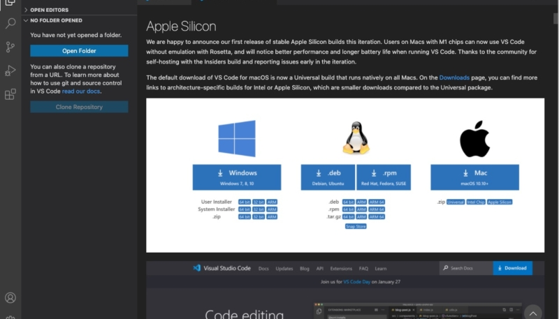 Microsoft Adds Support for M1 Macs in Visual Studio Code