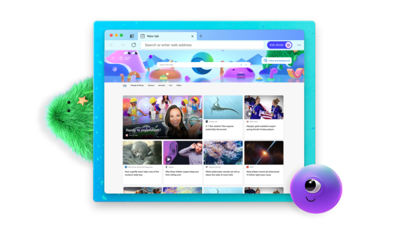 Microsoft Edge Browser Adds New 'Kids Mode' for Safer Web Browsing
