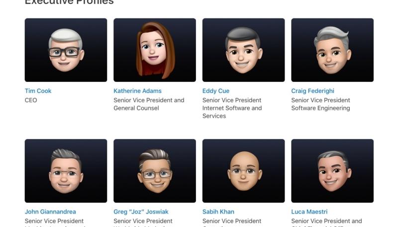 Apple 'Memojifies' Its Executive Leadership Page Just Ahead of WWDC21