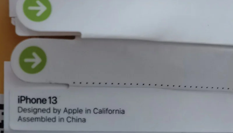 New Photo Shows 'iPhone 13' Name Used on Alleged Packaging Sticker Tabs