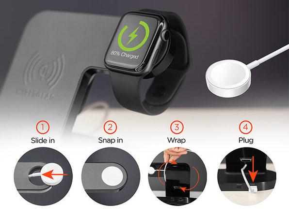 HyperGear 3-in-1 Wireless Charging Dock