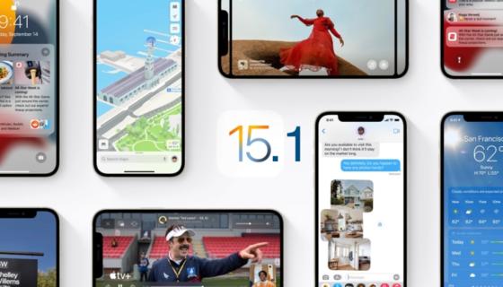 iOS 15.1 and iPadOS 15.1