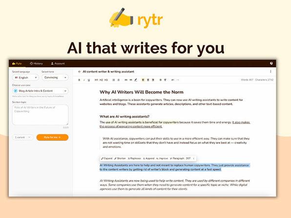 MacTrast Deals: Rytr AI Writing Tool: Lifetime Subscription